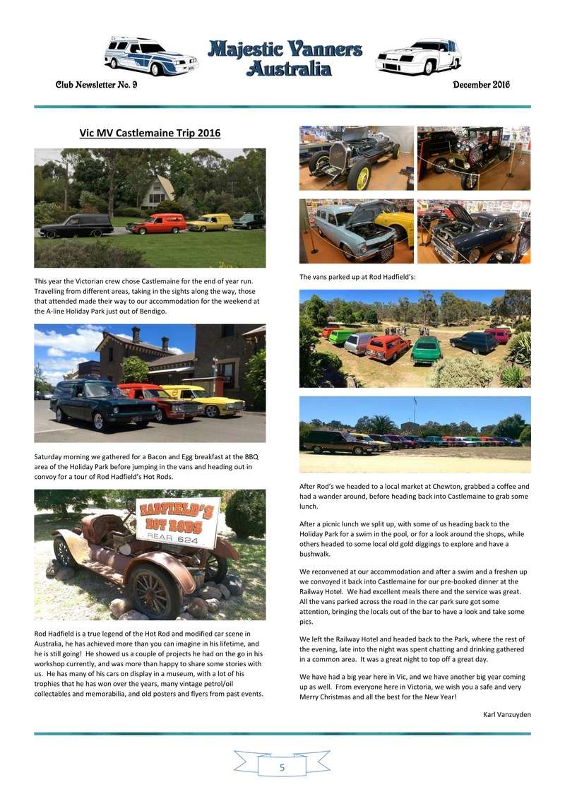 Majestic Vanners Newsletter Issue No. 9 December 2016 0510