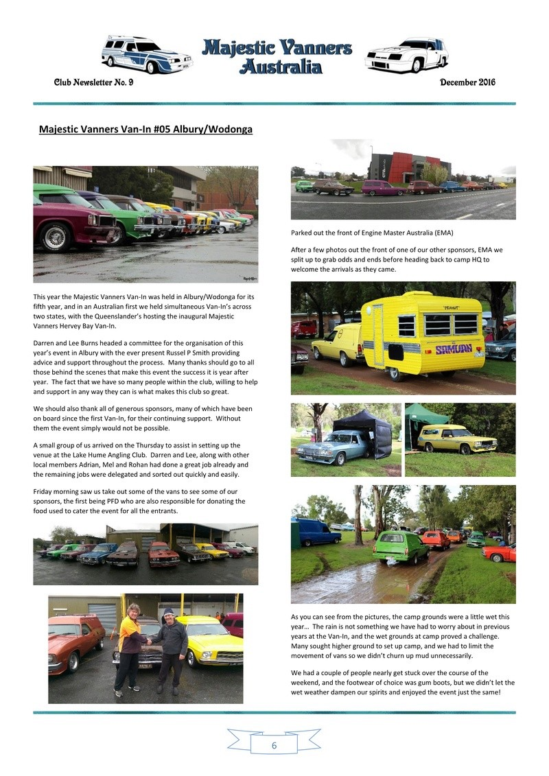 Majestic Vanners Newsletter Issue No. 9 December 2016 0610