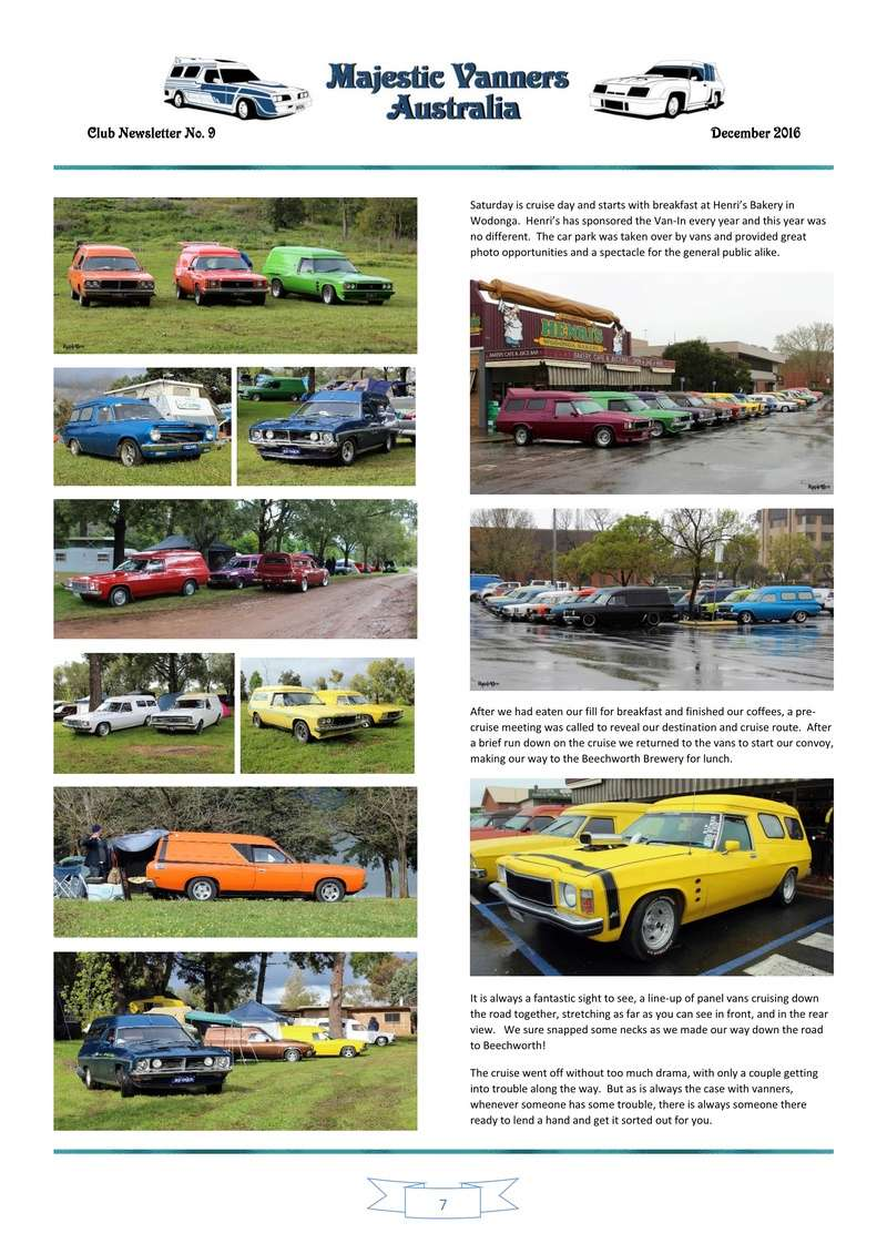 Majestic Vanners Newsletter Issue No. 9 December 2016 0710