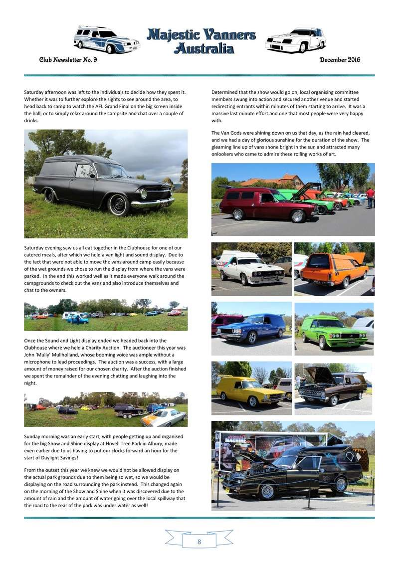 Majestic Vanners Newsletter Issue No. 9 December 2016 0810