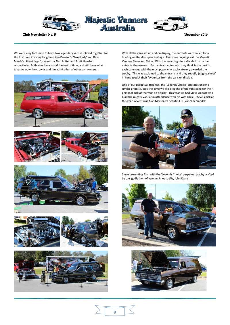 Majestic Vanners Newsletter Issue No. 9 December 2016 0910
