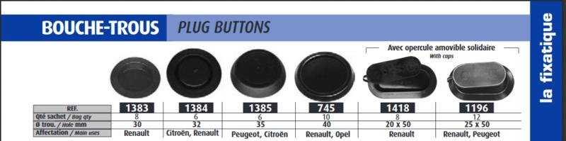 Bouchon sous châssis 2016-119