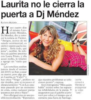 Laurita no le cierra la puerta a Dj Méndez N_bmp10