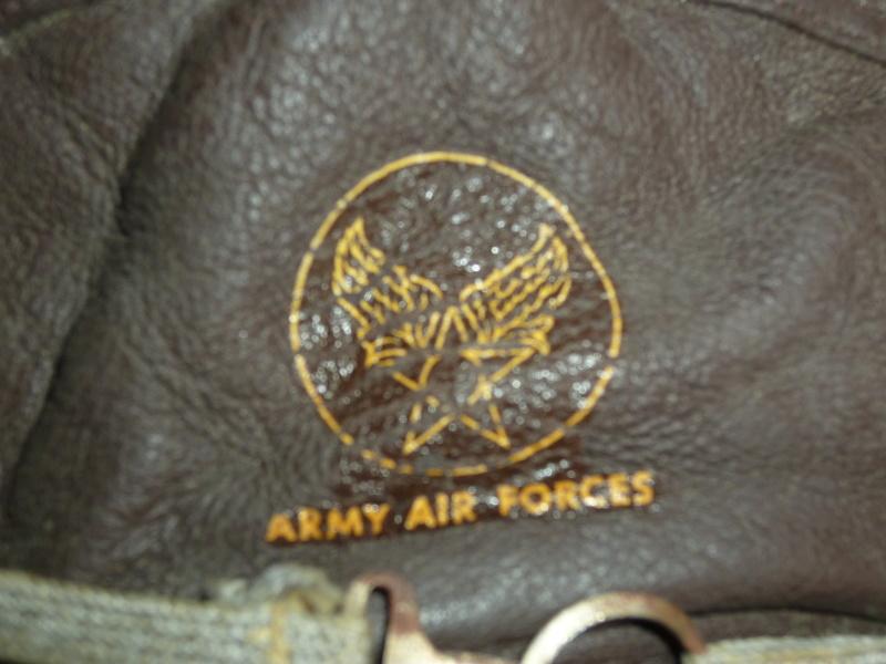 Casque de pilote ARMY AIR FORCES avec lunettes P1230939