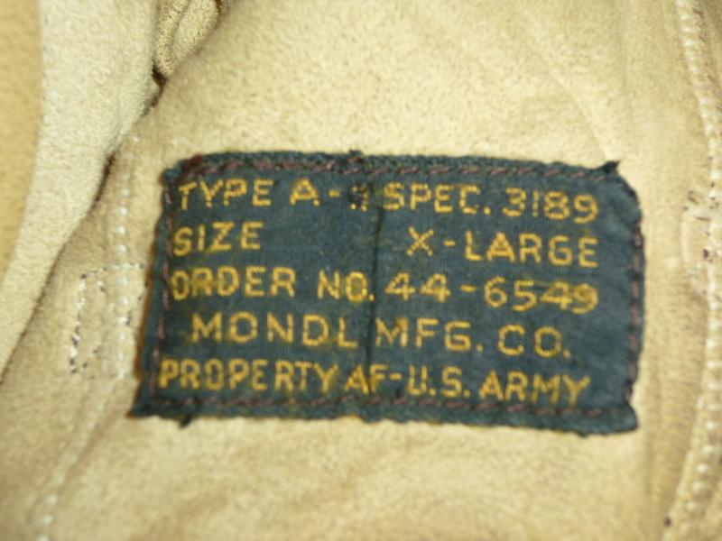 Casque de pilote ARMY AIR FORCES avec lunettes P1230941
