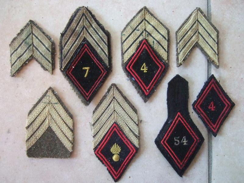 Insignes tissu losange 45 sous-off et cadre et autres ...... -20°/. pour Dimanche     2/3 vendus Dscf5581