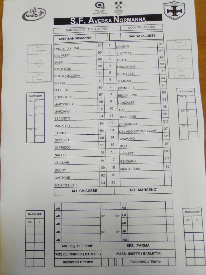 Campionato 11°giornata: aversa normanna - SANCATALDESE 0-0 15085510