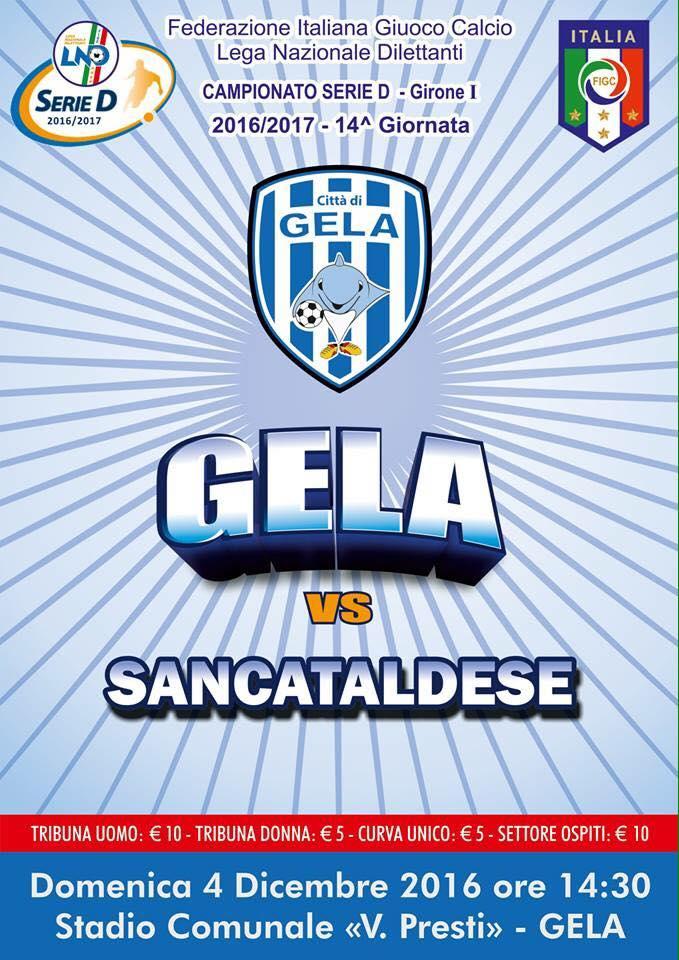 Campionato 14°giornata: citta' di gela - SANCATALDESE 0-0 15219410
