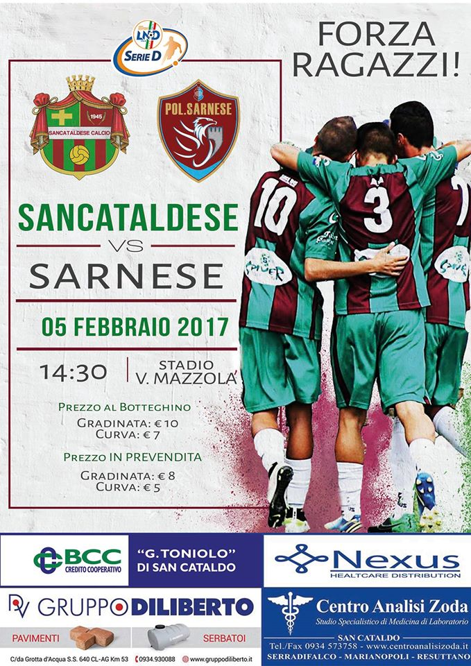 Campionato 22°giornata: SANCATALDESE - sarnese 2-1 16423110