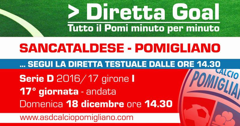Campionato 17°giornata: SANCATALDESE - pomigliano 0-1 Dirett10