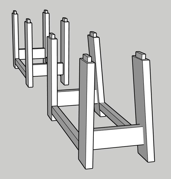 question sur les différentes formes de piétement établi, ainsi que la conception des plateaux Pizote11