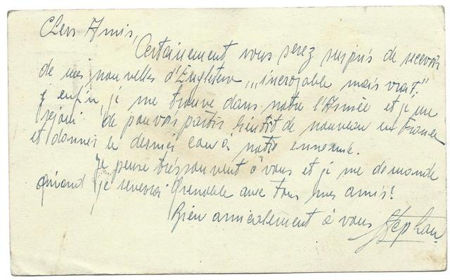 Adresse de couverture de l'armée tchécoslovaque en exil à Londres Tchyco11