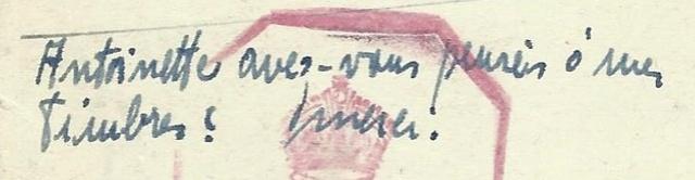 Adresse de couverture de l'armée tchécoslovaque en exil à Londres Tchyco12