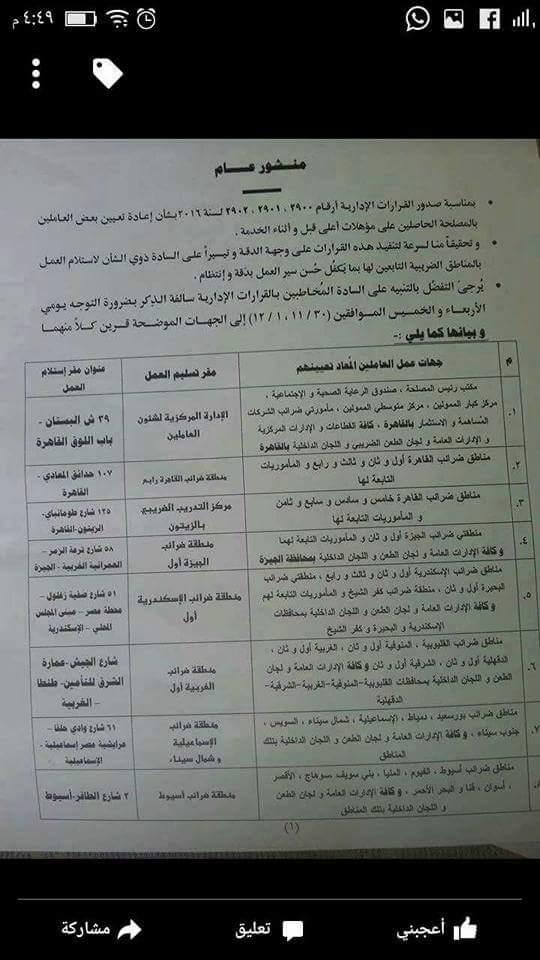مبروك للموظفين .. وزير المالية يصدر قرار بتسوية المؤهلات والتعيين بوظائف جديدة Receiv10