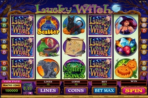 Microgaming casino game : Lucky Witch