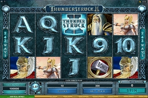 Microgaming casino game : Thunderstruck2