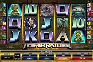 Microgaming casino game : Tomb Raider
