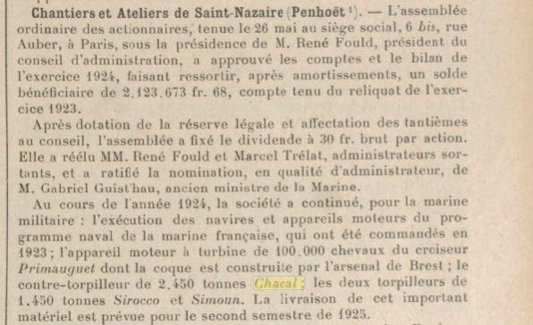 Le contre-torpilleur Chacal 19250110