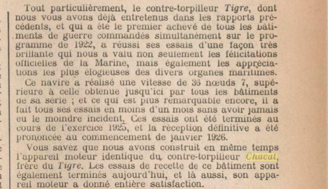 Le contre-torpilleur Chacal 19250111