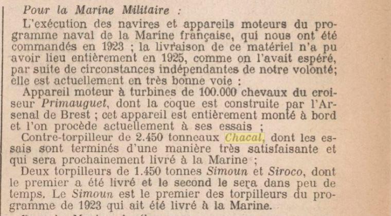 Le contre-torpilleur Chacal 19250112