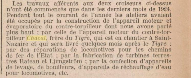 Le contre-torpilleur Chacal 19250311