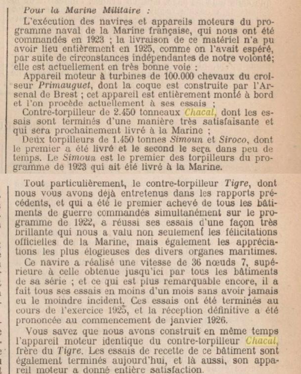 Le contre-torpilleur Chacal 19260110