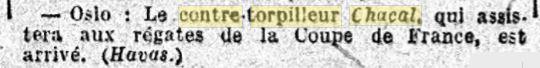 Le contre-torpilleur Chacal 19260613