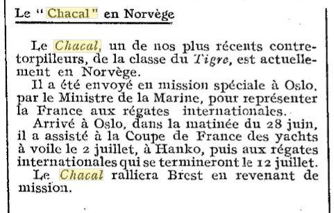 Le contre-torpilleur Chacal 19260710