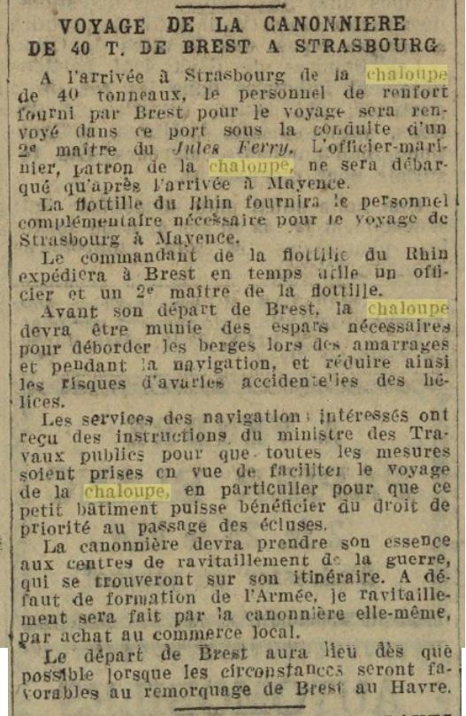 Chaloupe Fuviale n° 1 19260814