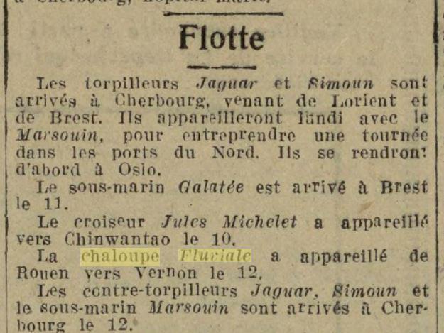 Chaloupe Fuviale n° 1 19260815
