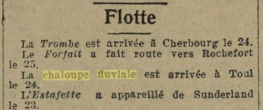 Chaloupe Fuviale n° 1 19260817