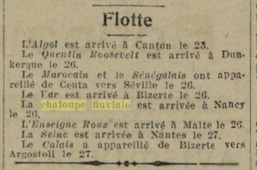 Chaloupe Fuviale n° 1 19260819