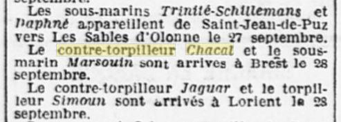 Le contre-torpilleur Chacal 19260912