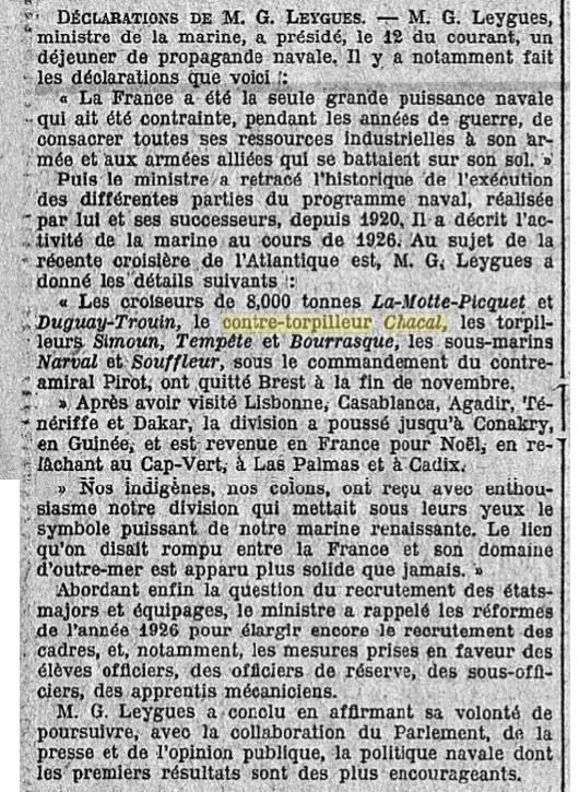 Le contre-torpilleur Chacal 19270111