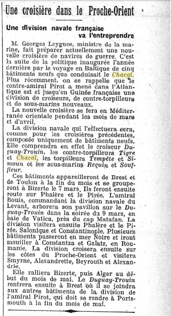 Le contre-torpilleur Chacal 19270211