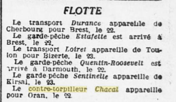 Le contre-torpilleur Chacal 19270410