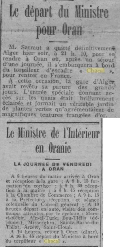 Le contre-torpilleur Chacal 19270411