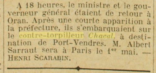 Le contre-torpilleur Chacal 19270413