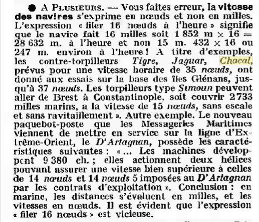 Le contre-torpilleur Chacal 19270510