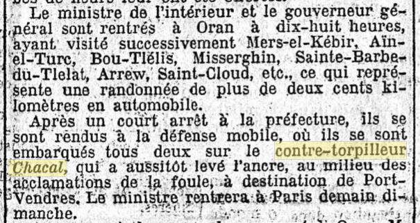 Le contre-torpilleur Chacal 19270511