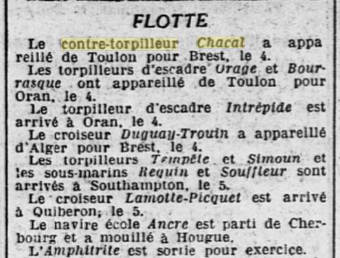 Le contre-torpilleur Chacal 19270514