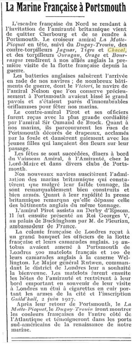 Le contre-torpilleur Chacal 19270610