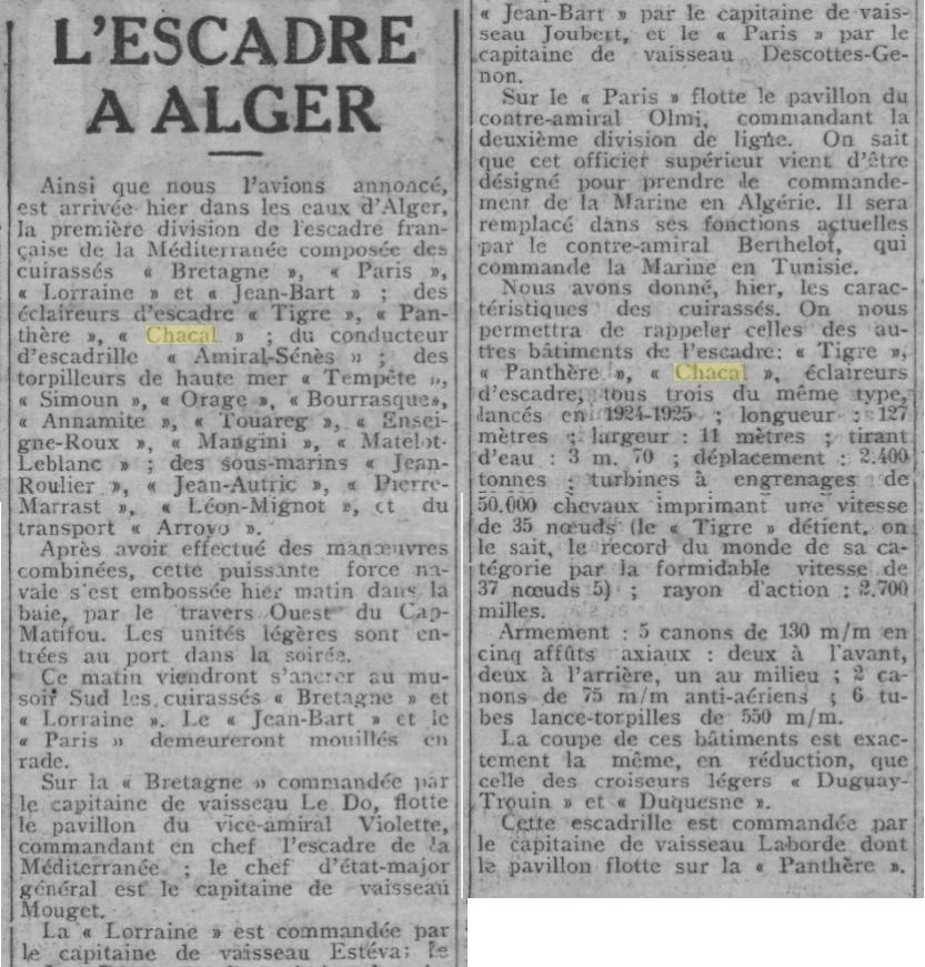 Le contre-torpilleur Chacal 19270710