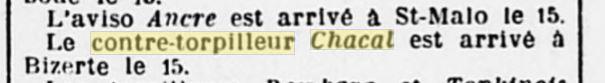 Le contre-torpilleur Chacal 19270712