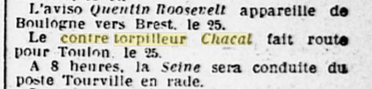 Le contre-torpilleur Chacal 19270713