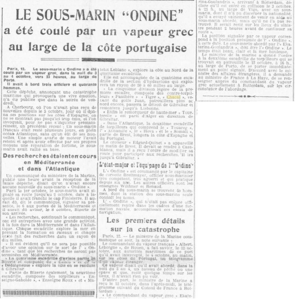 Le contre-torpilleur Chacal 19281011