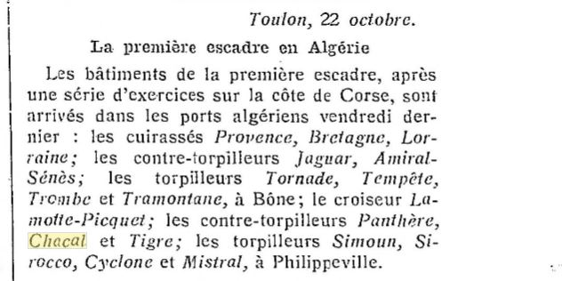Le contre-torpilleur Chacal 19281012