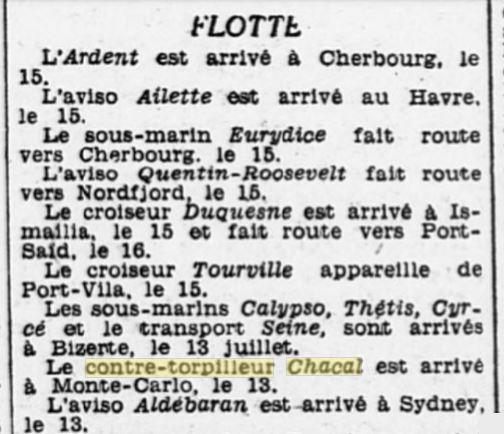 Le contre-torpilleur Chacal 19290710
