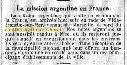Le contre-torpilleur Chacal 19301011