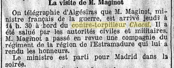 Le contre-torpilleur Chacal 19301015